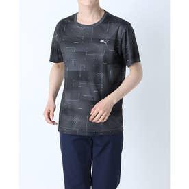 メンズ 半袖機能Tシャツ パフォーマンス AOP SS Tシャツ 520686 (ブラック)
