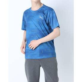 メンズ 半袖機能Tシャツ パフォーマンス AOP SS Tシャツ 520686 (ブルー)