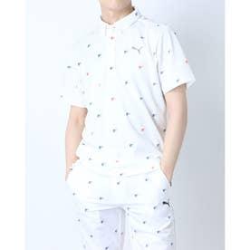 メンズ ゴルフ 半袖シャツ ゴルフ FORM STRIPEグラフィック SS ポロシャツ 930189 (ホワイト)