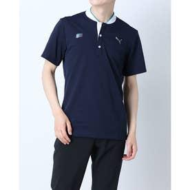 メンズ ゴルフ 半袖シャツ ゴルフ BBカラー SS ポロシャツ 930188 (ネイビー)