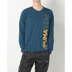 メンズ 長袖機能Tシャツ TRAIN ロングスリーブ Tシャツ_ 521311 (ネイビー)