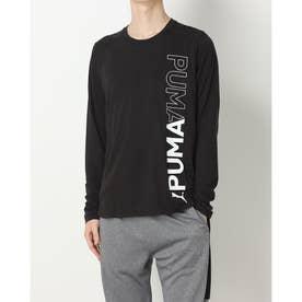メンズ 長袖機能Tシャツ TRAIN ロングスリーブ Tシャツ_ 521311 (ブラック)