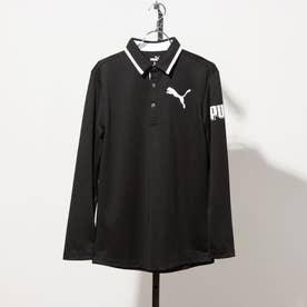メンズ ゴルフ 長袖シャツ ゴルフスリーブグラフィックLSポロシャツ_ 923987 (ブラック)