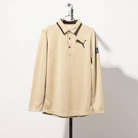 メンズ ゴルフ 長袖シャツ ゴルフスリーブグラフィックLSポロシャツ_ 923987 (ベージュ)