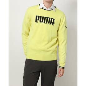 メンズ ゴルフ 長袖セーター ゴルフ3DPUMAニットクルー_ 930340_02 (イエロー)