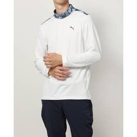 メンズ ゴルフ 長袖シャツ ゴルフアーカイブLSモックネックシャツ_ 930343 (ホワイト)