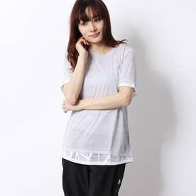 レディース フィットネス 半袖Tシャツ STUDIO ミックス レース Tシャツ 519248