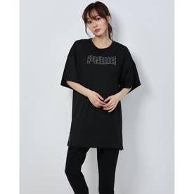 レディース 陸上/ランニング 半袖Tシャツ RUN グラフィック SS Tドレス 519800 (ブラック)