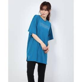 レディース 陸上/ランニング 半袖Tシャツ RUN グラフィック SS Tドレス 519800 (ブルー)