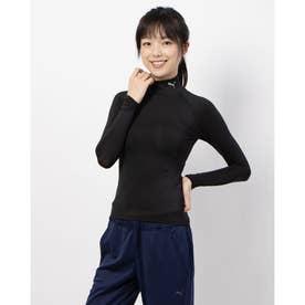 テック ライト LSモックネック Tシャツ (BLACK)