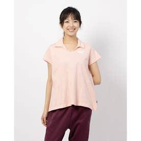 ESS+ オープンポロシャツ (FLUO PEACH)