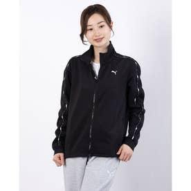 レディース 長袖ジャージジャケット トレーニング ジャケット 520540 (ブラック)