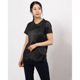 レディース フィットネス 半袖Tシャツ パフォーマンス AOP SS Tシャツ W 520680 (ブラック)