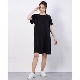 レディース ワンピース デザイン Tシャツドレス 589188 (ブラック)