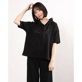 レディース 半袖Tシャツ HER SS フーディーTシャツ 588484 (ブラック)