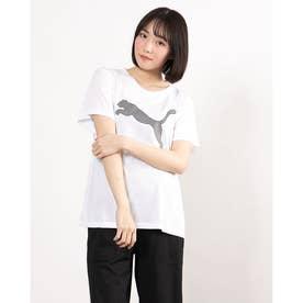 レディース 半袖機能Tシャツ EVOSTRIPE Tシャツ 588965 (ホワイト)
