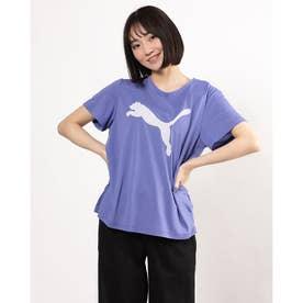 レディース 半袖機能Tシャツ EVOSTRIPE Tシャツ 588965 (パープル)