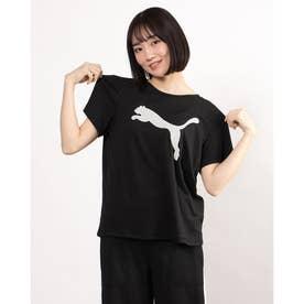 レディース 半袖機能Tシャツ EVOSTRIPE Tシャツ 588965 (ブラック)
