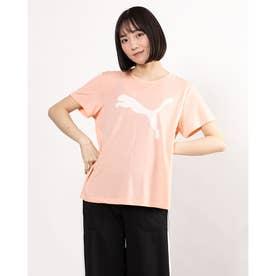 レディース 半袖機能Tシャツ EVOSTRIPE Tシャツ 588965 (ピンク)