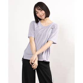 レディース フィットネス 半袖Tシャツ STUDIO グラフィン リラックス Tシャツ 520713 (パープル)