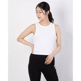レディース ノースリーブシャツ MODERN BASICS リブタンクトップ 589113 (ホワイト)