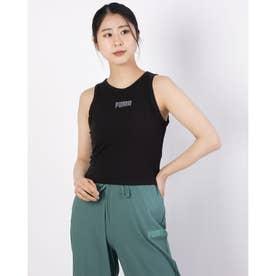 レディース ノースリーブシャツ MODERN BASICS リブタンクトップ 589113 (ブラック)
