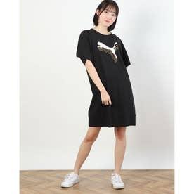 レディース 半袖Tシャツ REBEL Tシャツ ドレス 588843 (ブラック)