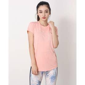 レディース 半袖機能Tシャツ RTG ヘザーロゴ Tシャツ_dryCELL(吸汗速乾)機能付 588995 (ピンク)