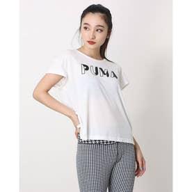 レディース 半袖機能Tシャツ MODERN SPORTS Tシャツ_リラックスフィットTシャツ_ 588729 (ホワイト)