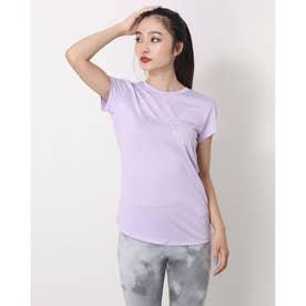 レディース 半袖機能Tシャツ RTG ヘザーロゴ Tシャツ_dryCELL(吸汗速乾)機能付 588995 (パープル)