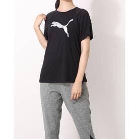 レディース フィットネス 半袖Tシャツ EVOSTRIPE Tシャツ_メタリック仕上げPUMAキャットロゴ_ 846330 (他)