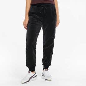 ICONIC T7 VELOUR PANTS (BLACK)