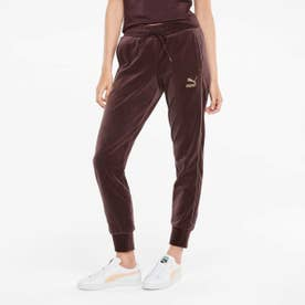 ICONIC T7 VELOUR PANTS (RED)