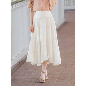 シルクジャガードスカート (オフホワイト)