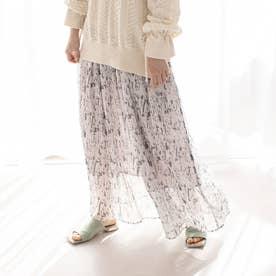 【WEB・一部店舗限定】プリーツシフォンマキシパンツ (ピンク)