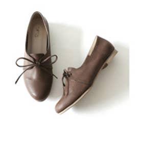 ナチュラルフラットシューズ (brown)