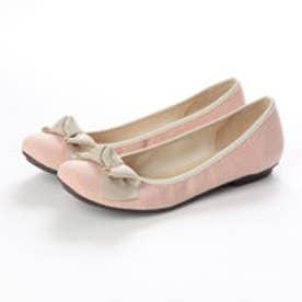 リボンフラットパンプス (pink)