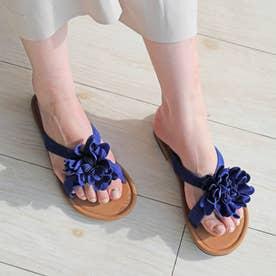 フラワーモチーフサンダル (blue)