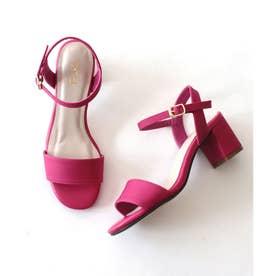 シングルベルトヒールサンダル (pink)