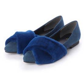 クロスファーフラットパンプス (blue)