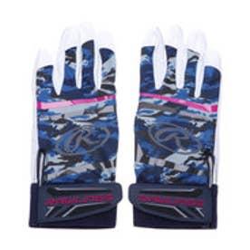 野球 バッティング用手袋 <両手用>バッティンググラブ EBG9S01-BLU J00620628