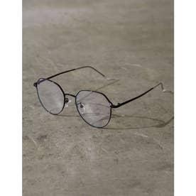 クラシカルメタルフレームメガネ (ブラック)