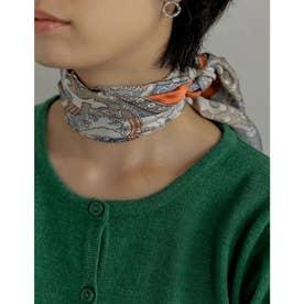 ペイズリー柄スカーフ (オレンジ)