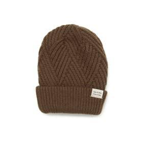 2WAYニット帽 (ブラウン)