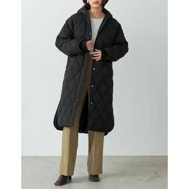 [高橋ユウさん着用][サステナブル][低身長向けサイズ有]リサイクル中綿オーバーサイズキルティングコート (ブラック)