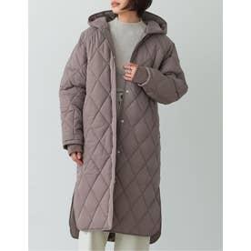 [高橋ユウさん着用][サステナブル][低身長向けサイズ有]リサイクル中綿オーバーサイズキルティングコート (モカ)