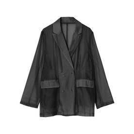 [2021S/S PRE ORDER]ソフトオーガンジーテーラードジャケット (ブラック)
