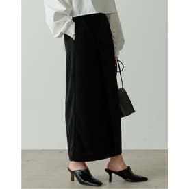 ポンチラップ風ナロースカート (ブラック)