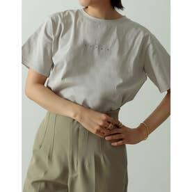 ロゴが選べるオーガニックコットンフレンチスリーブTシャツ (ミニロゴグレージュ)