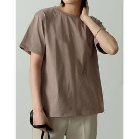 ロゴが選べるオーガニックコットンフレンチスリーブTシャツ (ミニロゴモカ)